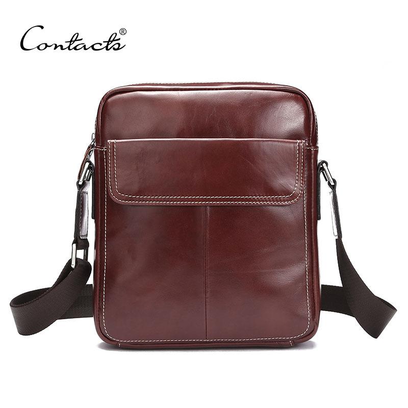 2016 New Vintage Crossbody Bag Genuine Leather Shoulder Bags Men Messenger Bag Men Leather Handbag Tote Briefcase(China (Mainland))