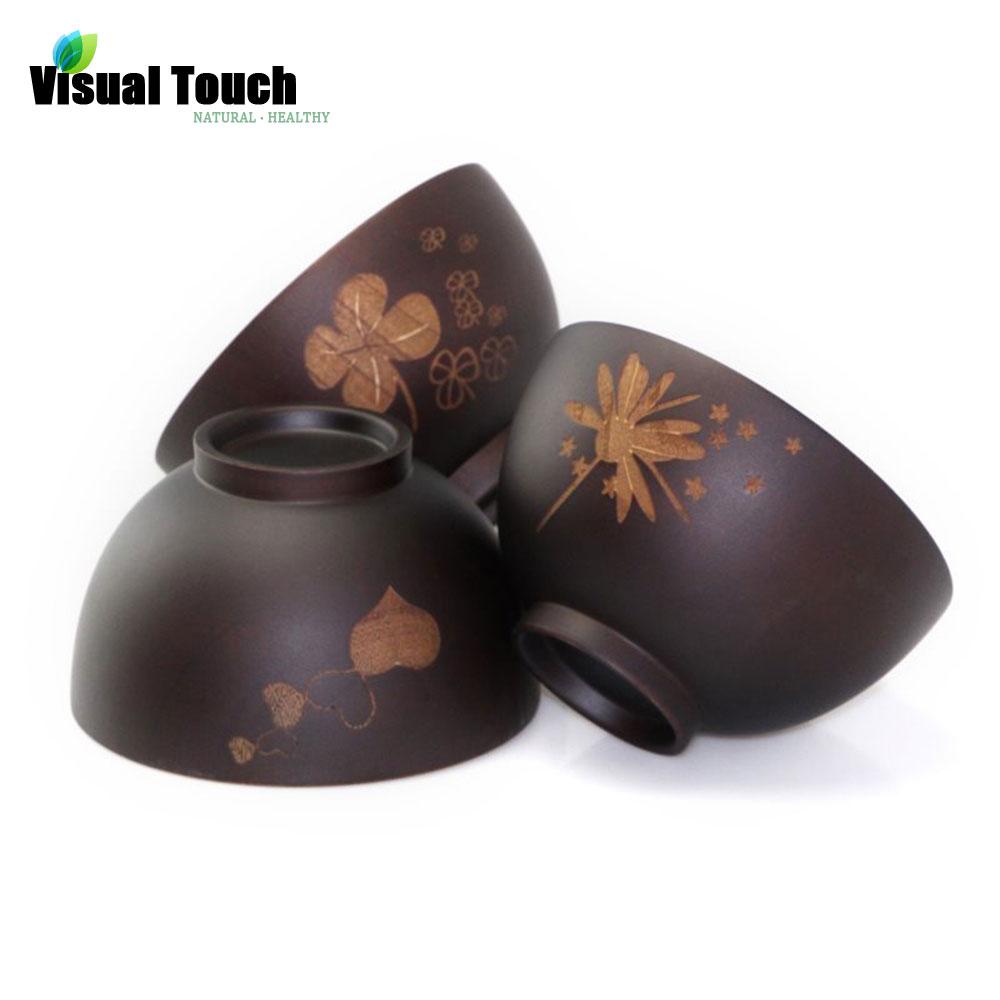 Eco friendly saudável servindo tigela jujuba madeira decorativo natureza flor Floral impresso tigelas(China (Mainland))