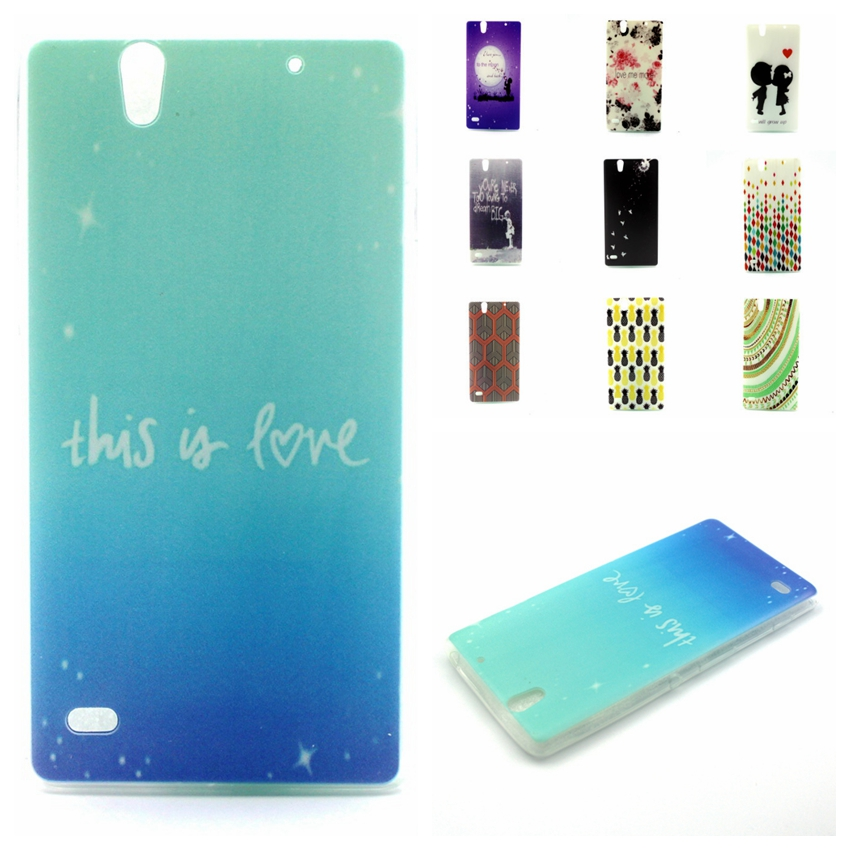 Hot Sale!Luxury Fashion Ultra Thin Colored Drawing Painting Back Skin Cover TPU Soft Back Cover For Sony Xperia C4 Dual E5333()