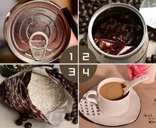 Yunnan colorful little grain of coffee Small grain coffee instant mocha three in iron card variety