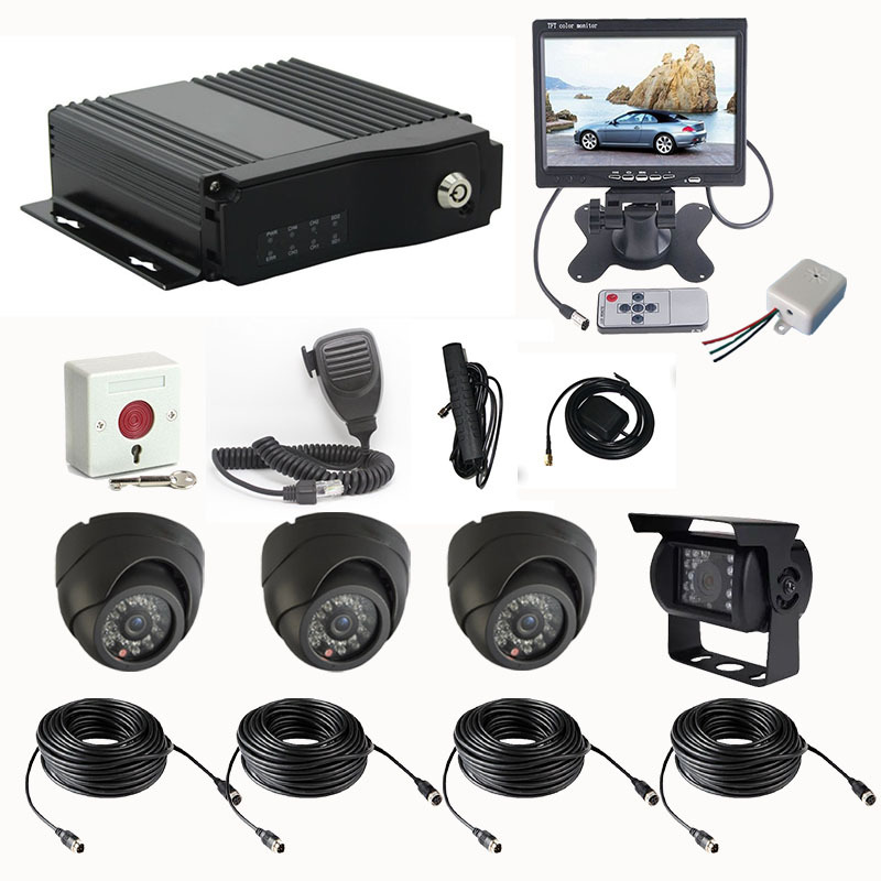 4CH CCTV 3G Vehicle Surveillance System for Bus/Car/Truck/Boat H.264 CIF/HD1/D1/720P Mobile DVR Real time Monitor Dual SD Card(China (Mainland))