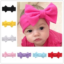 Buy Naturalwell Girls Bandana turban headband Children headbands Baby cotton bow headwraps Hair accessories bowknot hair bands HB432 for $1.03 in AliExpress store