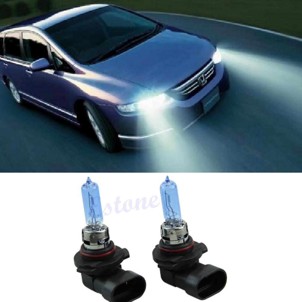 Free Shipping 2Pc White 5000K HB3 12V 65W Fog Light Halogen Xenon Bulbs Daytime Running Lamps-PY(China (Mainland))