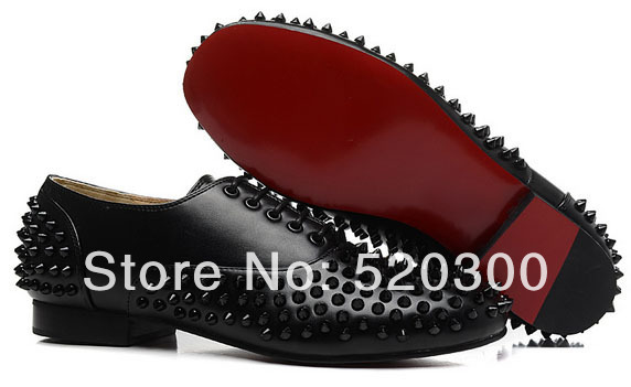 Aliexpress.com : Buy red bottom shoes for men with black rivets ...