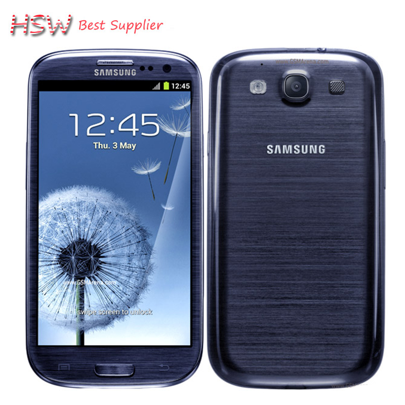 Unlocked Original Samsung Galaxy S3 i9300 Cell phone Quad Core 8MP Camera NFC 4.8'' GPS Wifi 3G Phone Refurbished Free
