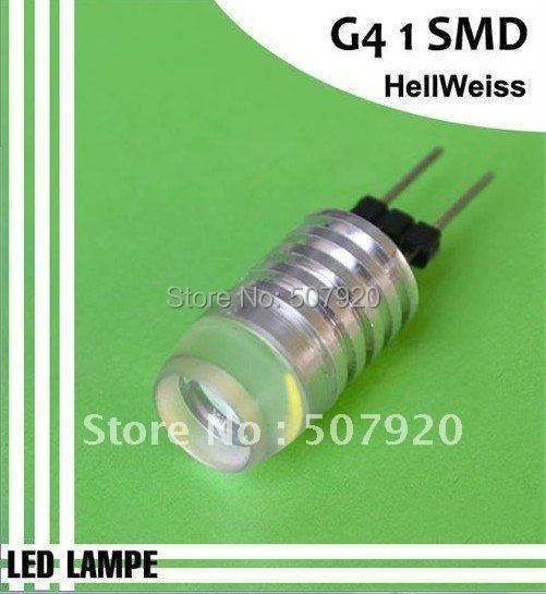 New Energy saving lamp G4 1SMD LED High Power Bulb White RV/Camper/Boat 1W G4 1 SMD LED Bi-pin Base 12V(China (Mainland))
