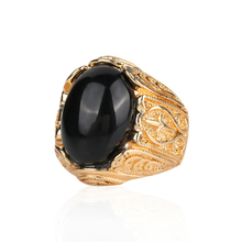 Men Italian Jewelry 18K Yellow Gold Filled Womens Black Sapphire Wedding Ring Size 7-10 Wedding Gold Rings For Women
