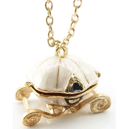Good Deal ! Fairy Tale Cinderella Pumpkin Carriage Locket Pendant Chain Necklace(China (Mainland))