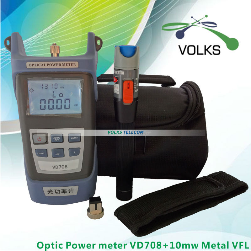 10mW Visual Fault Locator Fiber Optic Cable Tester and Optical Fiber Metal Power Meter free shipping(China (Mainland))