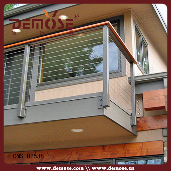 Cheap Stainless Steel Wire Rope Balcony Railing Design On
