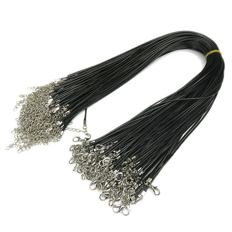 hot leather cord rope chain necklace DIY jewelry accessories free delivery(China (Mainland))