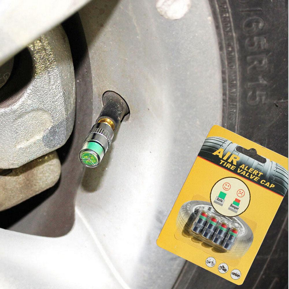 DHL 1000pcs/lot Car Tire air Pressure Diagnostic Tools Monitor Indicator Valve Caps Alert Sensor wheels car styling