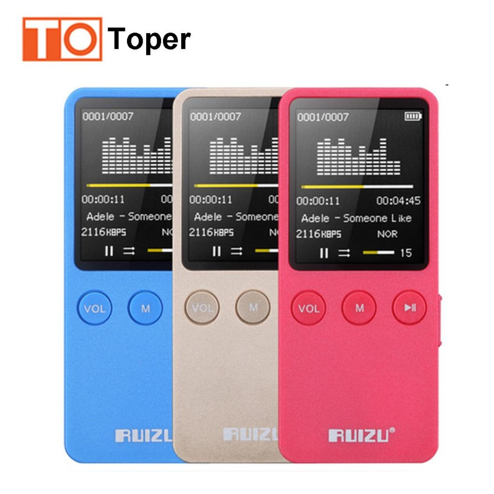 Ruizu X08 Mini Sport MP3 Music Player HIFI Lossless gravador de voz MP3 Player 8 G 1.8 polegada FM rdio tela 200 H altifalante