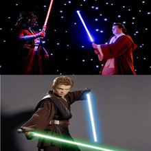 (2 pcs/lot) Star Wars Lightsaber Led Flashing Light Sword Toys Cosplay Weapons Can Mutual percussion Sabers for boys Action(China (Mainland))