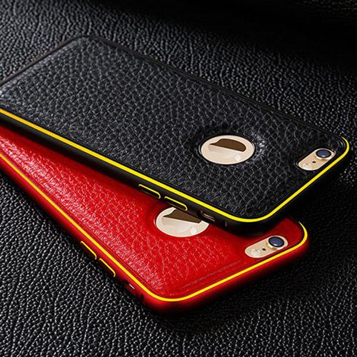 Гаджет  Promotions ! Luxury Genuine Leather Back Metal Aluminum Frame Case Cover For iPhone 5 Top Quality Wholesale/Retail for iphone5s None Телефоны и Телекоммуникации