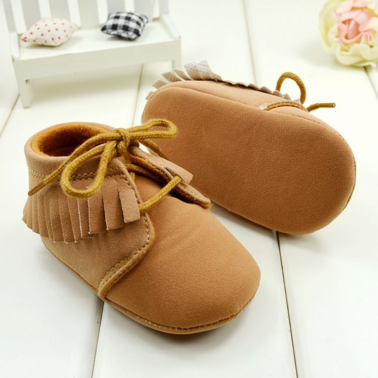 Baby shoes Brown and Pink color Soft Bottom toddler boots For Girls boys 3 sizes to