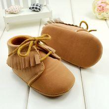 Детская обувь, коричневый и розовый цвет мягкое дно ботинки малыша для девочек, мальчиков 3 размера на выбор бесплатно и перевозка груза падения