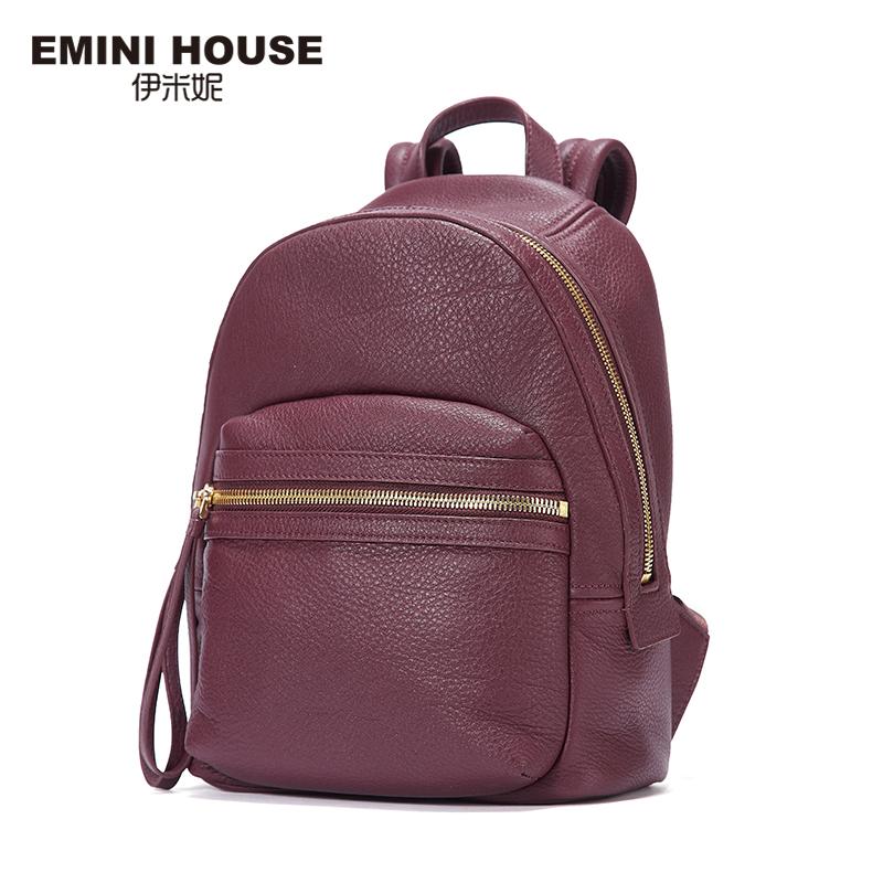 EMINI HOUSE 2016 Fashion Genuine Leather Backpack Women Travel Bag School Bags For Teenagers Multifunction Backpacks Vintage Bag(China (Mainland))