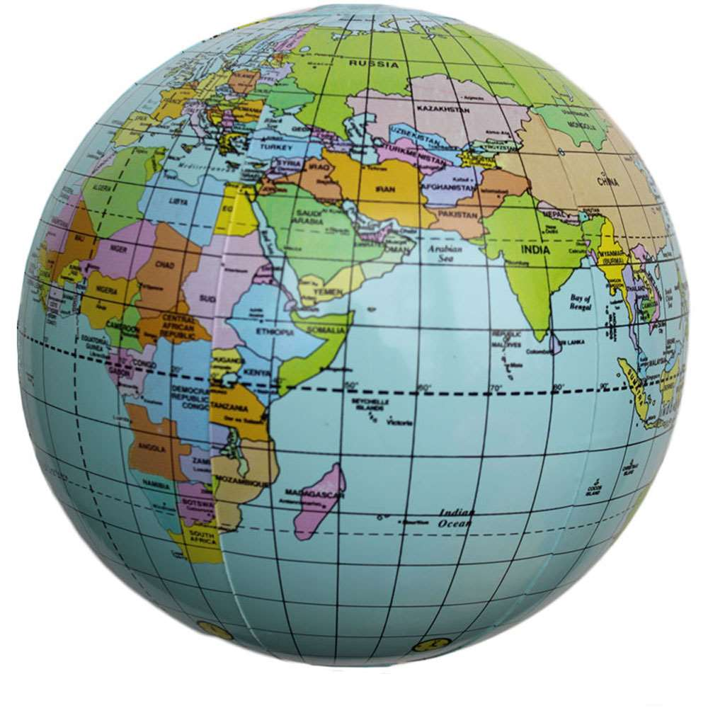 Inflatable Globe Toy Ball Baby Early Educational Teaching Tool Inflated Beach Ball Kids Learning and Playing Geography World Map(China (Mainland))