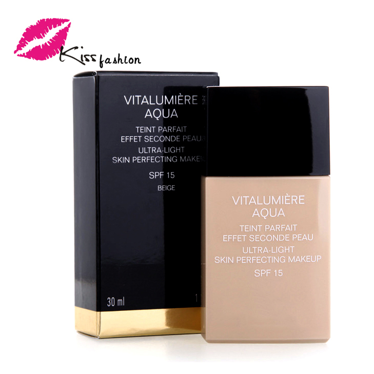 1Pcs/lot liquid foundation Luxury brand 3 color Women Face Base Makeup Whitening Sunscreen Liquid Foundation 30ML Long Lasting(China (Mainland))