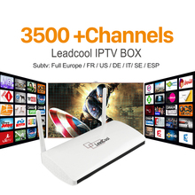 Buy Quad Core LEADCOOL Android TV Box Smart Media Player arabic 3500+Channels HD iptv Italian 1 year Account Europe French STB for $54.10 in AliExpress store