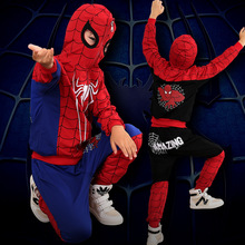 3-9Yrs Children Tracksuits Halloween Boys Clothing Sets 2pcs/lot Spring Autumn Kids Cartoon Sport Suit Spiderman Casual Clothes(China (Mainland))