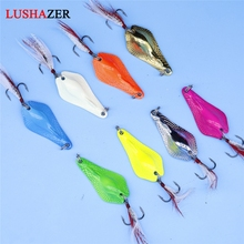 Buy LUSHAZER fishing spoon lure 7g 10g 14g carp fishing bait ice metal lures China hard baits isca artificial spinnerbait for $1.29 in AliExpress store