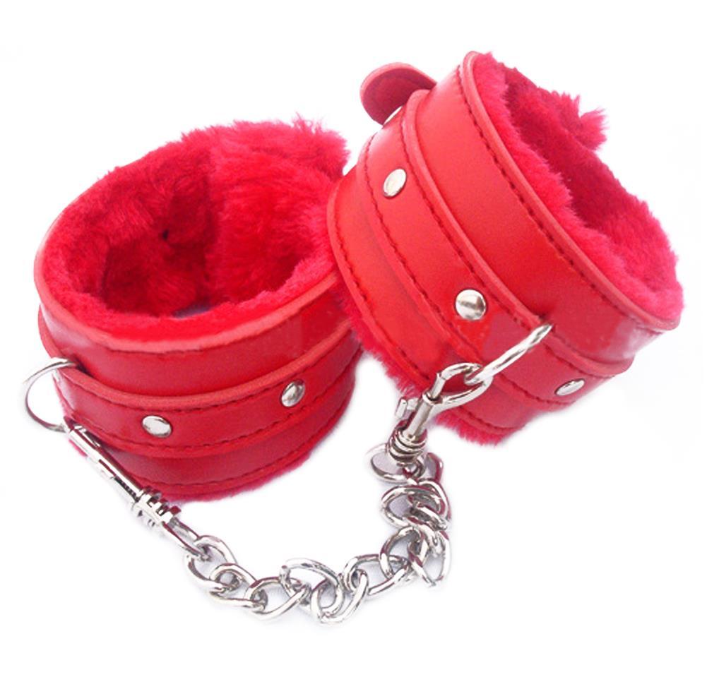 Гаджет  1PCS New PU Leather Handcuffs Restraints Costume Bondage Sex Toys For Toys Costume Tools Freeshipping 2Colors None Красота и здоровье