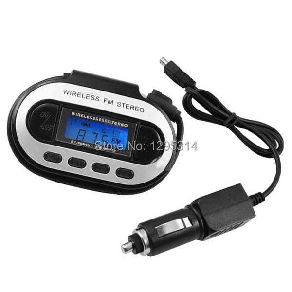 New Applied 200 Channels Stereo Wireless Black FM Transmitter MP3/PDA/MD/DVD LCD mfctW(China (Mainland))