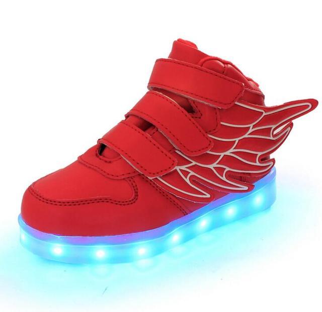 Новые Летние Дети Дышащий Кроссовки Мода Спорт Led Usb Светящиеся Освещенные Shoes для Детей Кроссовки Мальчики Повседневная Девушки Квартиры