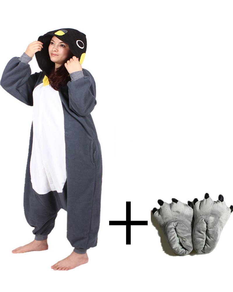 Movie Fashion Clothes 2015 New Fantastic Fluffy Onesie Autumn Winter Soft Fabric Lovely Black Penguin Animal Pajamas Whole Novel(China (Mainland))