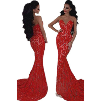 Вечернее платье Dear-Lover Evening Dress Elegant Sirene /2015 Vestido LC60064 LC60064 Mermaid Evening Dress Elegant вечернее платье red evening dress vestido sexy long evening dress