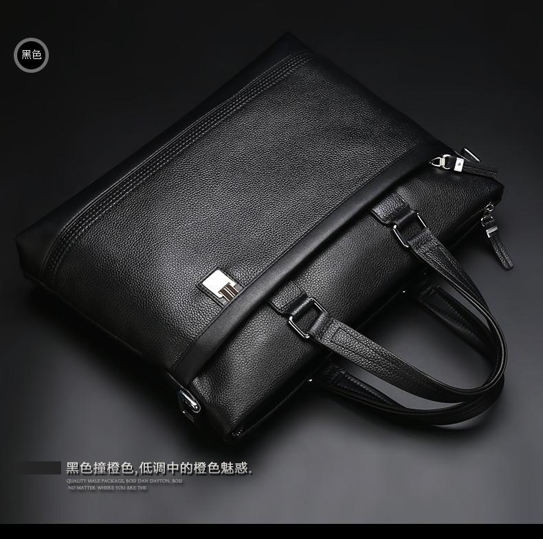 Bostanten GENUINE Real LEATHER Cowhide Shoulder Leisure Men's Bag Busi