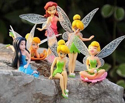 Cute elf Tinker Bell flying toy doll cartoon characters like the little girl's birthday gift 6 / PC(China (Mainland))