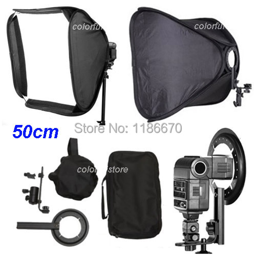 Pr 50 x 50cm 20 Soft Box Softbox for Canon 430EX 580EX II Nikon SB600 YongNuo YN-460/460II/467/468/560II/560III Flash Speedlite<br><br>Aliexpress
