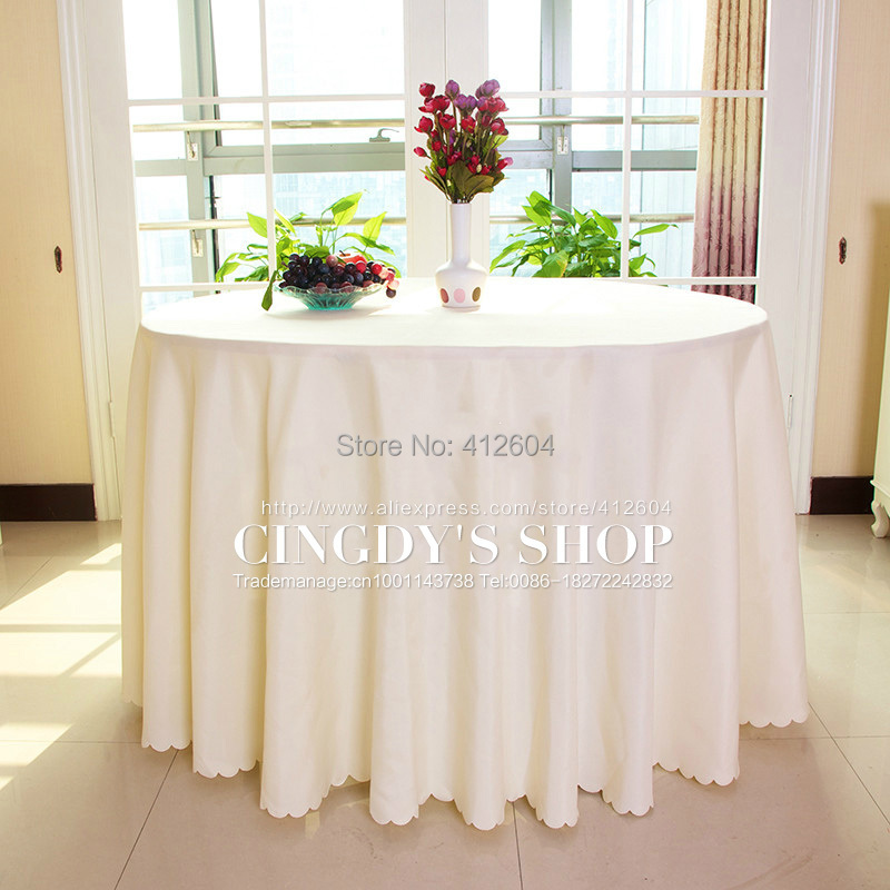 100% polyester plain table linen 2.8M round tablecloth for dinning/wedding(China (Mainland))