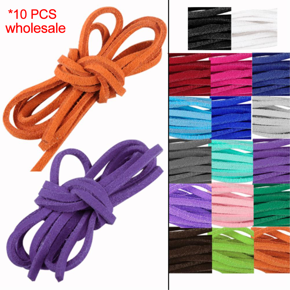 Hot Selling+Free Shipping 3mm 1M Length MultiColor Flat Imitation Leather Velvet Cords,Ropes,DIY Jewelry Accessory(China (Mainland))