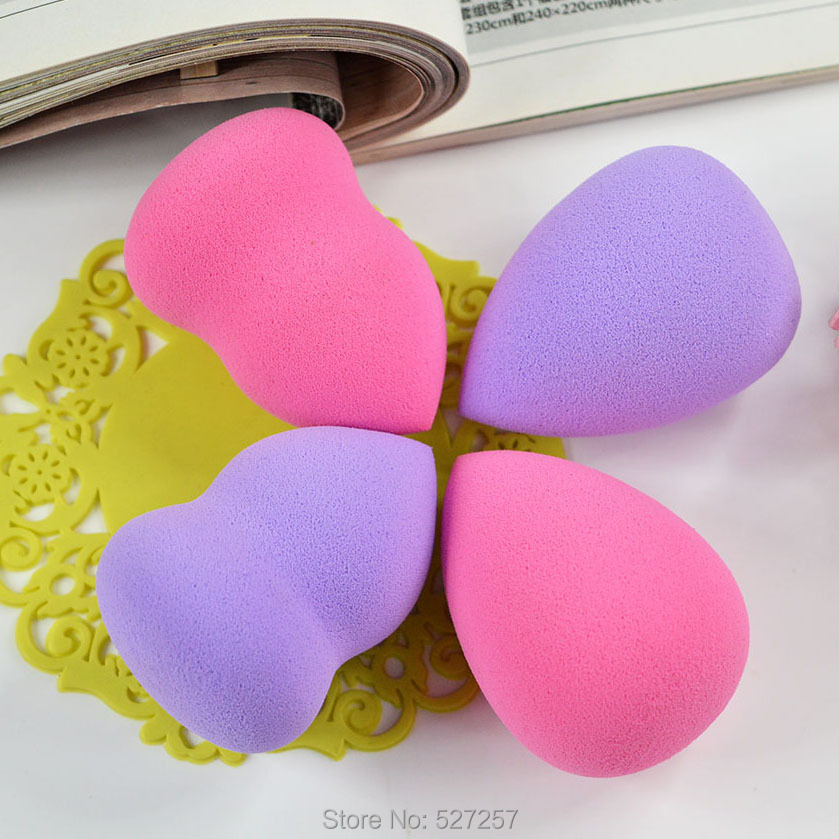 Cosmetic Puff Makeup Foundation Sponge Blender Blending Cosmetic Puff Flawless Powder Smooth Beauty Make Up Free Shipping 2 Pcs(China (Mainland))