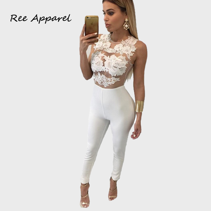 Images of All White Jumpsuit - Reikian