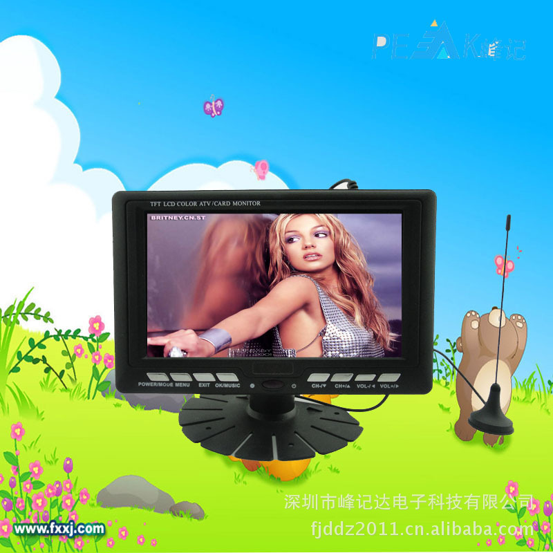 2016 Factory High Quality 9 inch LCD TV support MS/MMC TFT LCD Color TV With Wide View Angle FM Radio Support USB SD Card(China (Mainland))