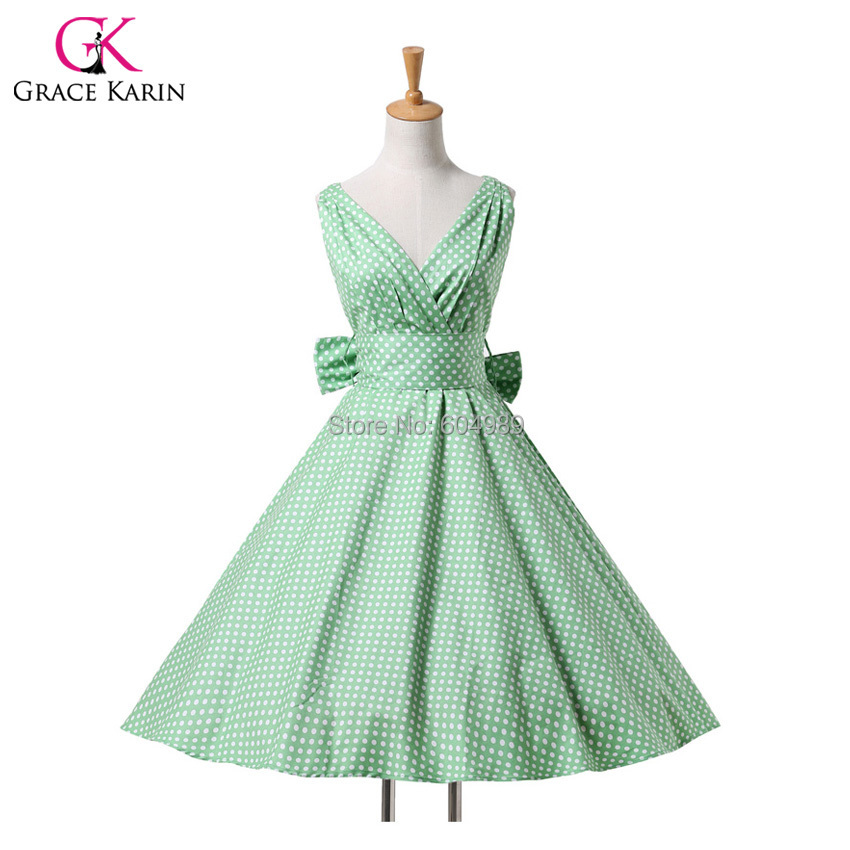 2015 Women Maggie Tang Cotton vestidos 50s 60s Vintage Rockabilly Pin-up swing Summer Style Party Dress 6295(Hong Kong)