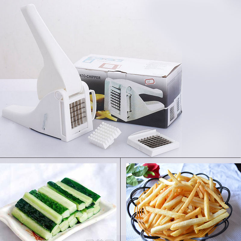 Stainless Steel French Fry Potato Chip Cut Cutter Vegetable Fruit Slicer Chopper Shredders Chipper Safe Kitchen Cooking Tools(China (Mainland))