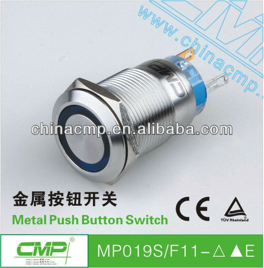 Discount Shipping Export 400pcs CMP Brand 19mm MP19S/F11--E Sealed Push Button Switch(China (Mainland))