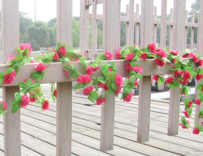 5pcs/lot 2m / 6.6ft Artificial Peony Flowers Vine Simulation Climbing Plants Rattan for Wedding Living Room M02(China (Mainland))