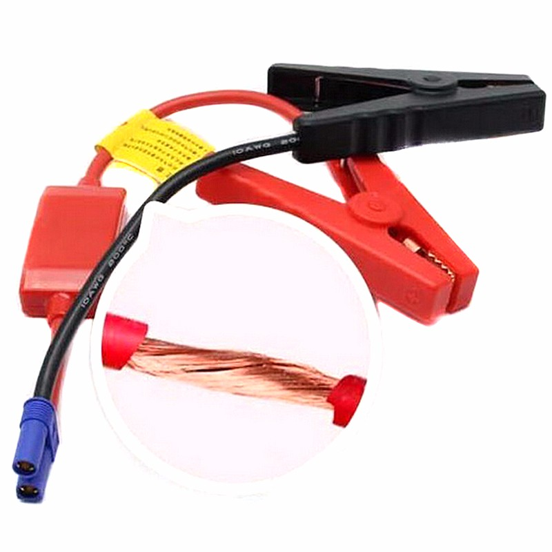 1 PC New Emergency Lead Cable Battery Alligator Clamp Clip For Car Trucks Jump Starter