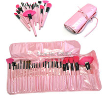 Woman s Pink 24Pcs Make Up Tools Pincel Maquiagem Professional Superior Soft Cosmetic Makeup Brush Set