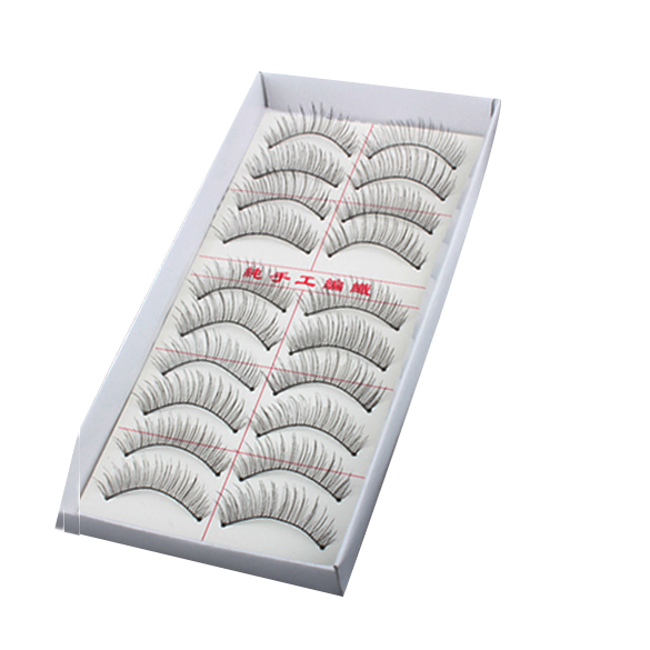 Natural Long 10 Pairs Thin Fake False Eyelashes Eye Lash Clear Makeup Tool BS88 - bestshopping88 Store store
