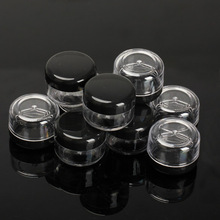 Black 10Pcs 5g/ml Cosmetic Empty Jar Pot Eyeshadow Makeup Face Cream Container HB88(China (Mainland))