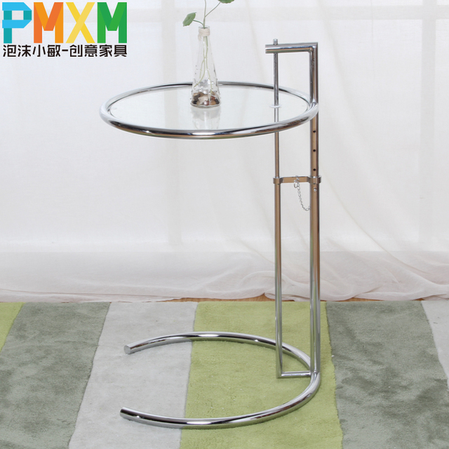 Mode cr ative simple d contract table basse en verre circulaire ascenseur - Petite table en verre ...