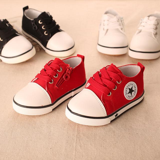 2016 Новый 1 до 3 лет дети повседневная обувь детские мальчики девочки холст обувь ...